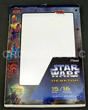 Star Wars Desktop Stationery Kit Mead Yoda C-3PO 15 Sheets 16 Envelopes 1996 NIP