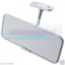 UNIVERSAL STAINLESS STEEL/CHROME CLASSIC OR KIT CAR INTERIOR REAR VIEW MIRROR