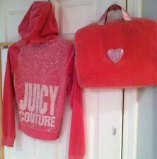 Pink Petite JUICY COUTURE Velour Hoodie sequin back