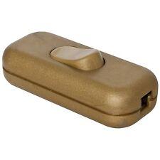 Schnurschalter Schnur-Zwischenschalter mit N-Klemme goldfarben 2x0,75mm² * NEU