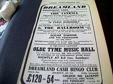 68-1  ephemera 1967 advert dreamland margate sugar simone the epics