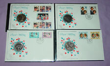 1981 CHARLES & DIANA WEDDING CROWN COIN COVERS x 4 - UK & Regional Issues