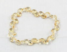 Natural CITRINE faceted tear drop elastic stretch bracelet / bead / strand