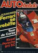 AUTO HEBDO n°265 du 7 Mai 1981 GP de San Marin Porsche 911SC Tour de Corse