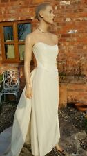 MXM 3 Piece Ivory Wedding Dress Bridal Mother Bride Evening Ball Cruise Prom 12