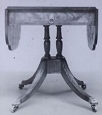 1805-1815 Duncan Phyfe Oval Table with Drop Wings, Magic Lantern Glass Slide