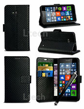 Apple iPhone 7 (4.7 inch) - Carbon Fibre Effect Wallet Case Cover & Stylus Pen