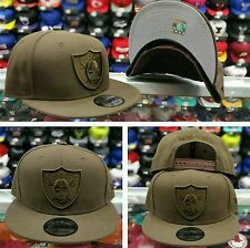 Exclusive New Era NFL Oakland Raiders 9Fifty Snapback hat Brown on Brown