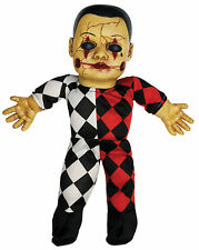 HALLOWEEN HELLEQUIN HAUNTED DOLL SOUND PROP DECORATION HAUNTED HOUSE CEMETARY