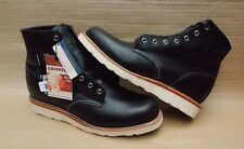 "CHIPPEWA 6"" PLAIN TOE UTILITY MENS BOOTS BRAND NEW GENUINE £250+ 42.5 eu BLACK"