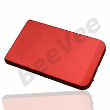 "RED 2,5"" SATA TO USB HARD DRIVE LAPTOP XBOX EXTERNAL CADDY HDD CASE ENCLOSURE"