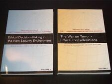 2-books lot: Canadian Defence Academy ETHICAL LEADERSHIP War on terror NEW 2008