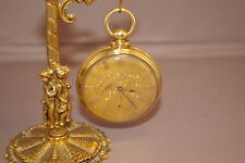 1850's - J. H. MULFORD, 4 Star Pocket Watch, 18 Kt. Gold, 10-12 Jewels, Only 4-5