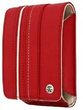 Crumpler Gofer Royale 35 Dark Red / White Leather Compact Camera Pouch