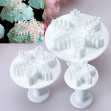 Snowflake Flower Fondant Cake Plunger Cutter Craft Mold Modeling Decorating GSM