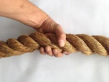 """2"""" Manila Rope - Sold by Foot - Nautical Boat Fitness Exercise Boxing Fence"""