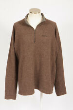 MARMOT Brown Wool Felt 1/4 Zip Pull Over Fleece Jacket Lightweight Trail Mens XL