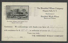 1910 PC NIAGARA FALLS NY THE SHREDDED WHEAT CO MAKES BISCUITS TRISCUITS SEE INFO