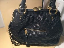 "Marc Jacobs Black Leather Quilted Chain Strap ""Stam"" Bag $1395"