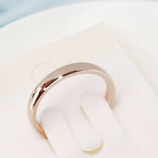 4mm Band Ring Polished Wedding Women Stainless Steel Size 10 Engagement Party