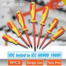 8 PCS VDE ELECTRICIANS SCREWDRIVER BOX SET 1000V AC Slim Electrical Insulated