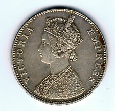 1882 India 1 one rupee silver coin - 11.7g