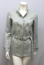 GIORGIO ARMANI BLACK LABEL JACKET SAFARI STYLE LINEN COTTON BELT PALE BLUE 38 S