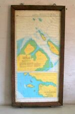 Vintage Old Original Sambu And Sekupang Map