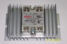 1 PC 24-380 VAC 40 AMP SOLID STATE RELAY  3-32 VDC INPUT  WITH LARGE HEATSINK !