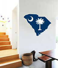 "South Carolina Map Flag Wall Decal Large Vinyl Sticker 25"" x 20"""