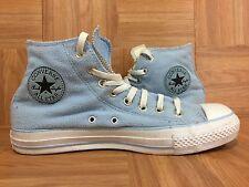 RARE�� Converse Chuck Taylor Hi Fleece Baby Blue Plush Textile 8 Men - 10