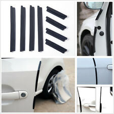 8 xBlack Universal Auto Edge Anti-rub SUV Front & Rear Door Strips Crash Bar New