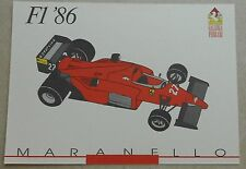 Galleria Ferrari 1993 f1 1986 Scheda Card brochure prospetto book libro Press