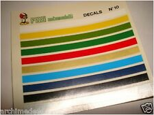 DECALS 1/43 BANDE COLORATE