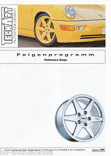 Prospekt TechArt Felgen Performance Design 1994 12 94 Porsche 911 928 944 Pkw