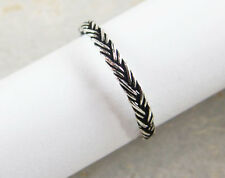 925 Sterling Silver  Braided  Band Ring Size 5 US