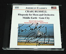 Craig Russell: Rhapsody for Horn & Orchestra Middle Earth Gate City ~ CD Signed