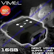 Night Vision Binocular 16GB Monocular Game Camera Recorder Goggles Digital NV