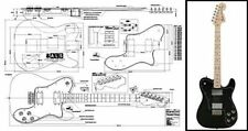 Telecaster Deluxe Style Electric Guitar Full-Scale Plan