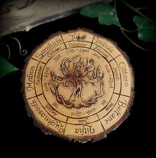 Alder Wood Wheel of the Year Altar Piece Wicca Pagan Offering Board Tree of Life
