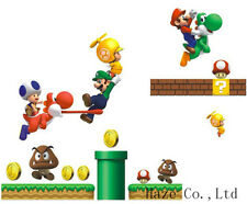 Super Mario DIY Removable PVC Wall Stickers Vinyl Decal Wallpaper Art Home UUK