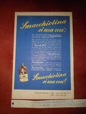 """"""" SMACCHIOLINA Lo Smacchiatore Modernissimo """" - Cartoncino Pubblicitario"""