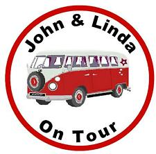 CAMPER VAN ON TOUR (RED) - FUN CAR TAX DISC HOLDER - PERSONALISED 4 U - NEW