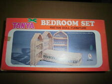 VINTAGE DOLL Rattan Furniture Tanya Bedroom Etnich Set