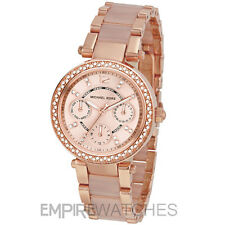 *NEW* MICHAEL KORS LADIES MINI PARKER ROSE GOLD BLUSH WATCH - MK6110 - RRP £259