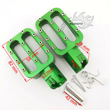 CNC Green Footpegs Foot Pegs Rests For 50cc-160cc CRF XR KLX TTR Pit Dirt Bike