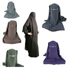 3 layers Niqab Nikab Hijab Veil Face Cover Islamic Muslim Cotton blend Unisex