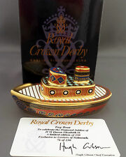 Royal Crown Derby JUBILEE PAGEANT TUG BOAT Paperweight – 1st Quality Boxed Cert
