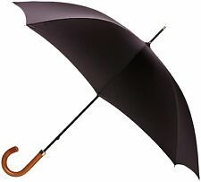 Fulton Consul Mens Walking Length Umbrella Black with Malacca Wood Handle