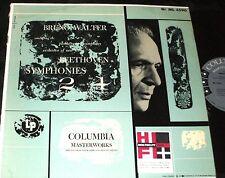 BRUNO WALTER Beethoven Symphonies #2 and #4 LP COLUMBIA 6-eye  ML-4596